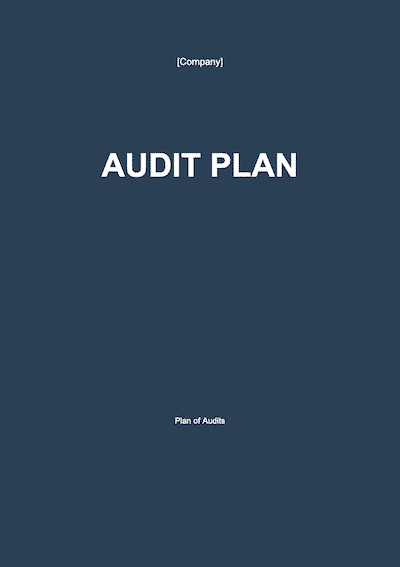 Audit Plan document template