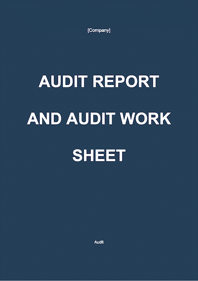 Audit Report document template