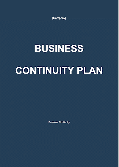 Business Continuity Plan document template