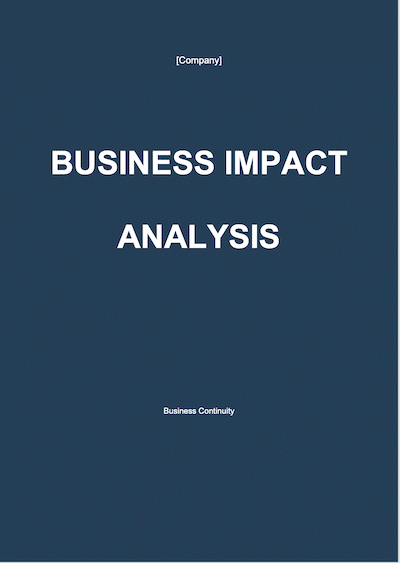 Business Impact Analysis document template