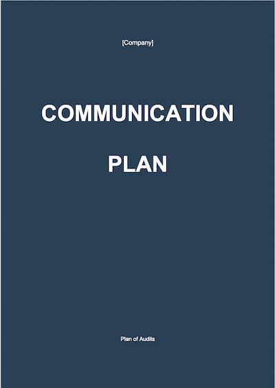 Communication Plan document template