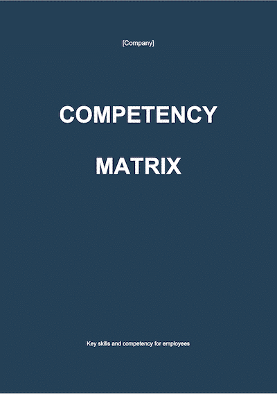 Competency Matrix document template