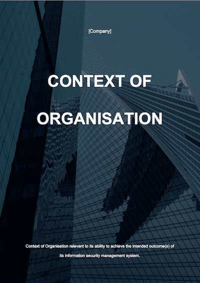ISO 27001 Context of Organisation document template