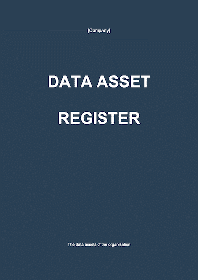 Data Asset Register document template