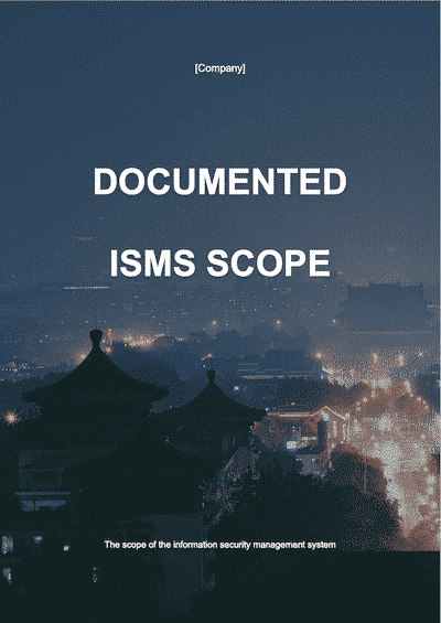 ISO 27001 Documented ISMS Scope document template