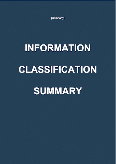 Information Classification Summary document template