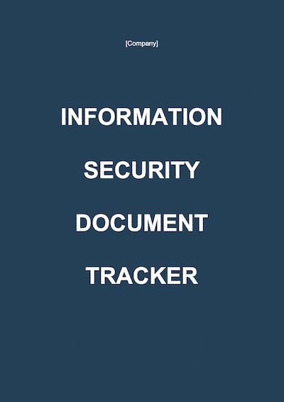 Information Security Document Tracker document template