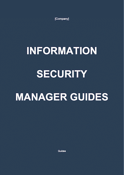 Information Security Manager Guides document template