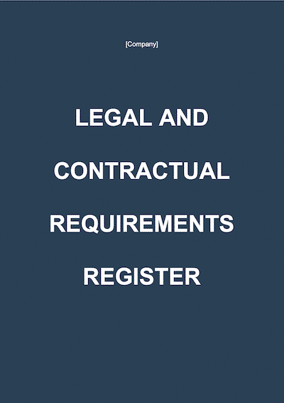Legal and Contractual Requirements Register document template