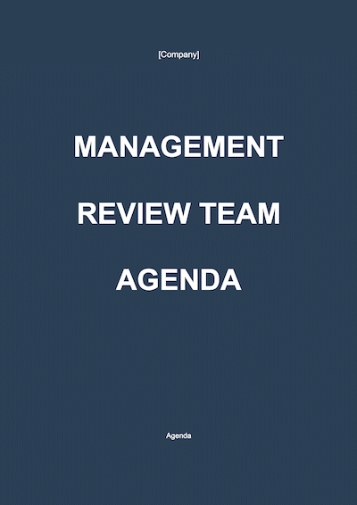 Management Review Team Agenda document template