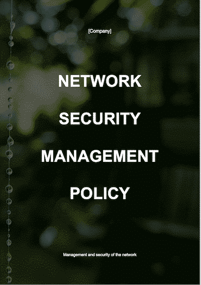 Network Security Management Policy