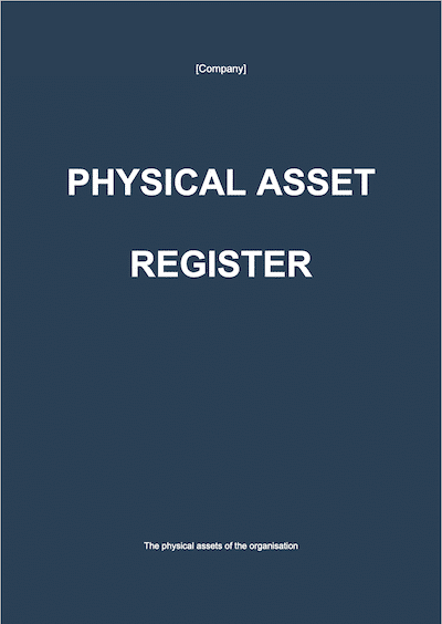 Physical Assets Register document template