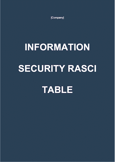 RASCI table document template