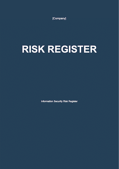 Risk Register document template