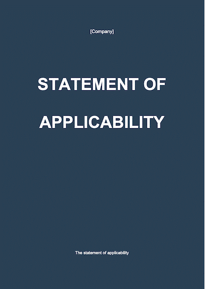 Statement of Applicability document template
