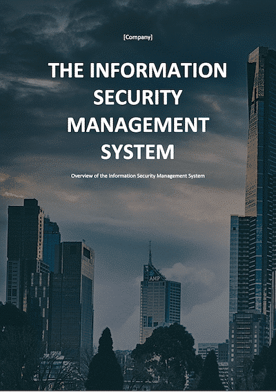 The Information Security Management System document template