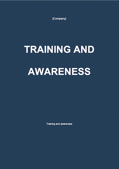 Training and Awareness document template